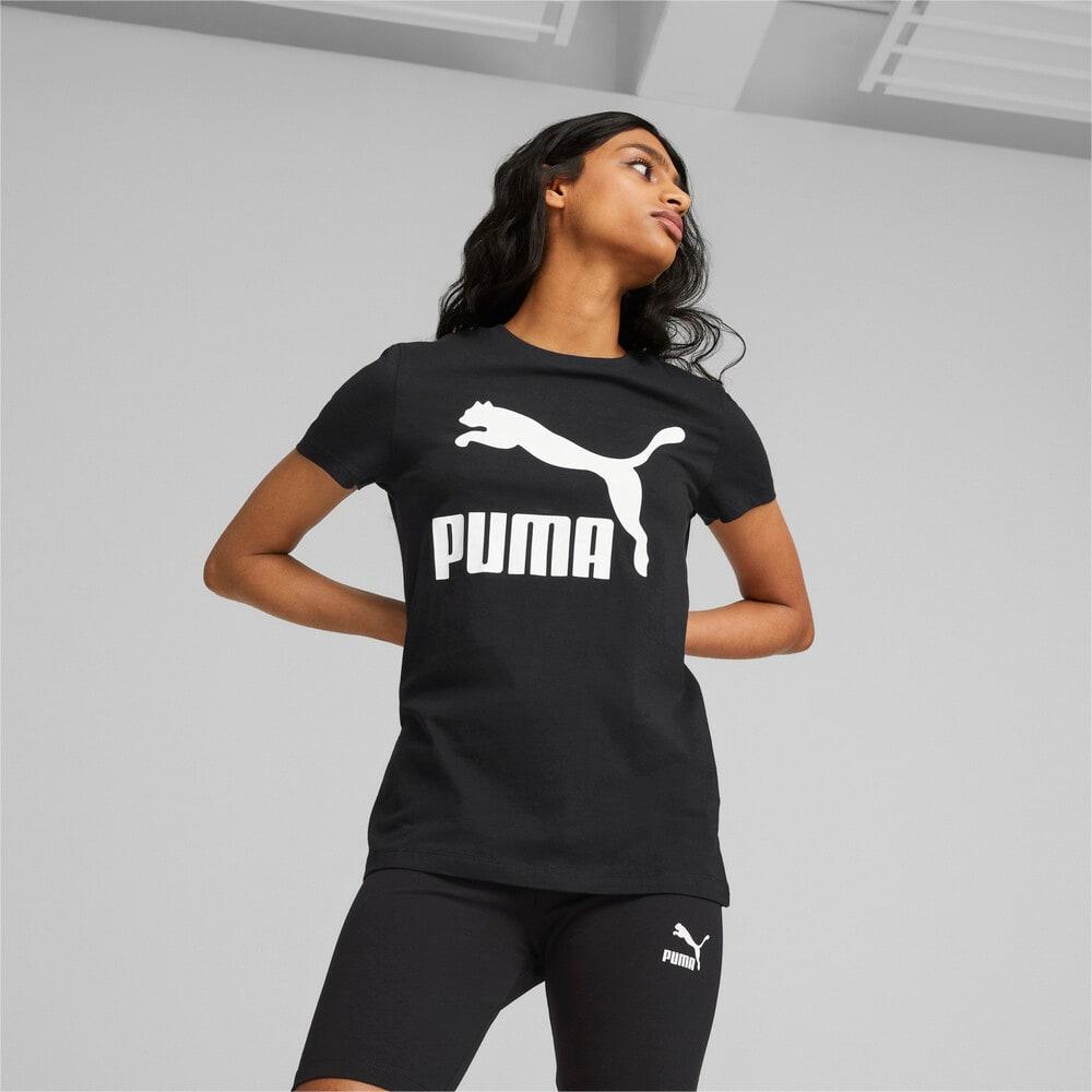 Изображение Puma Футболка Classics Logo Women's Tee #1: Puma Black