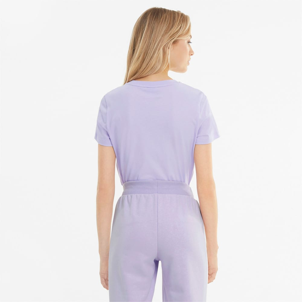 Изображение Puma Футболка Classics Logo Women's Tee #2: Light Lavender-metallic