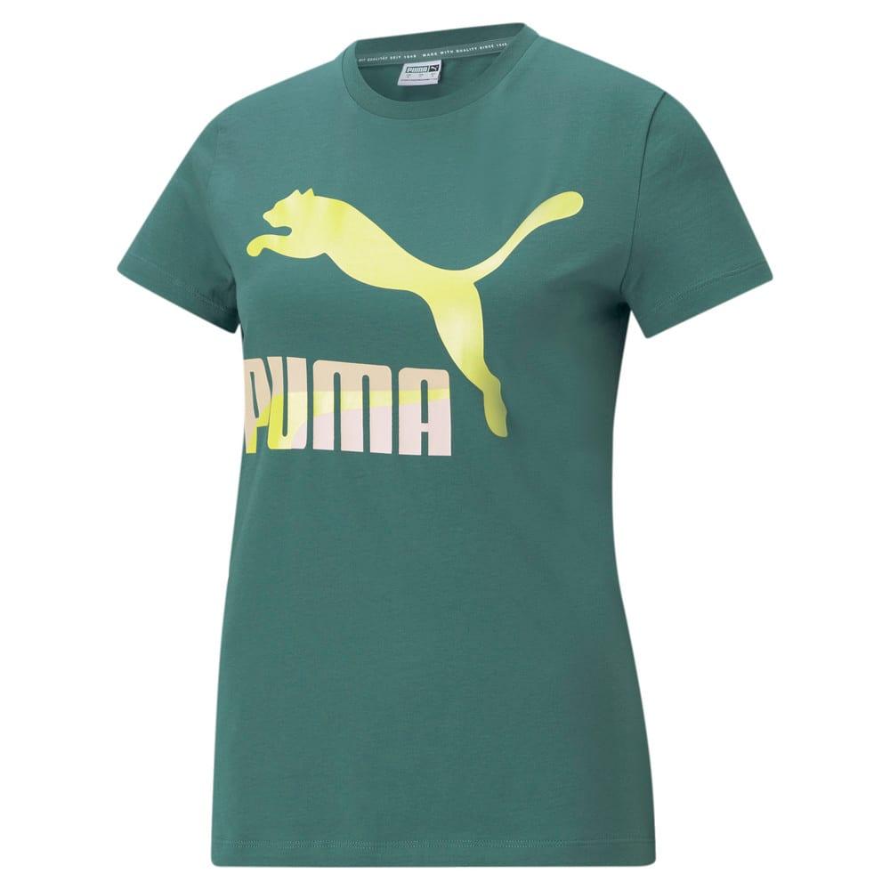Изображение Puma Футболка Classics Logo Women's Tee #1: Blue Spruce