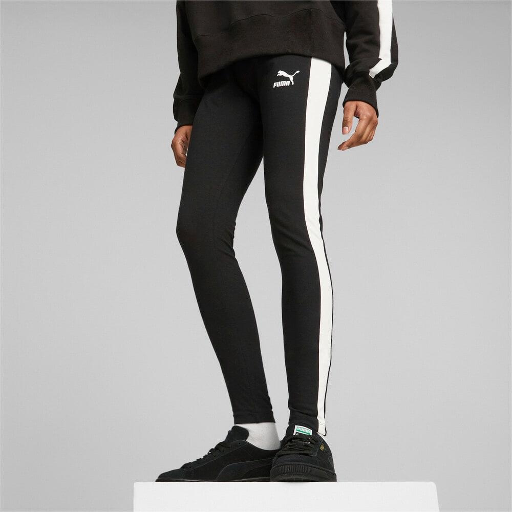 Imagen PUMA Leggings con cintura de altura media para mujer Iconic T7 #1