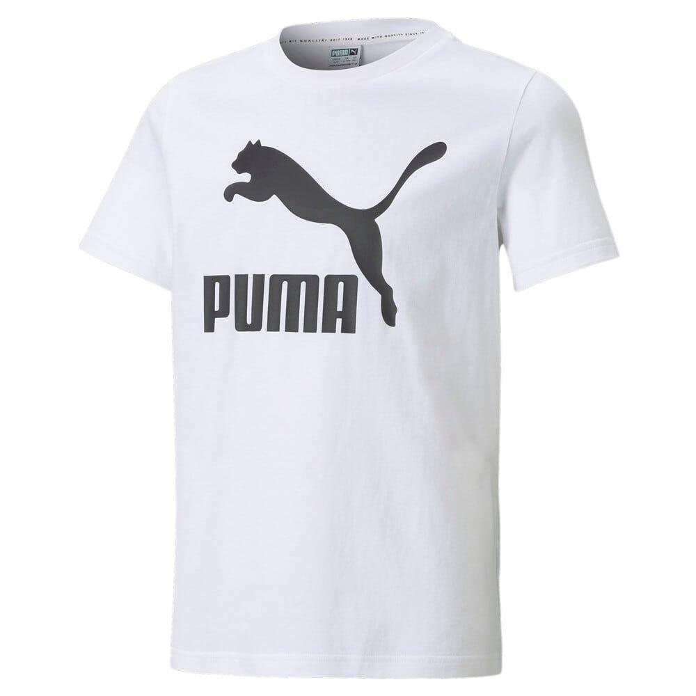 Изображение Puma Детская футболка Classics B Youth Tee #1: Puma White