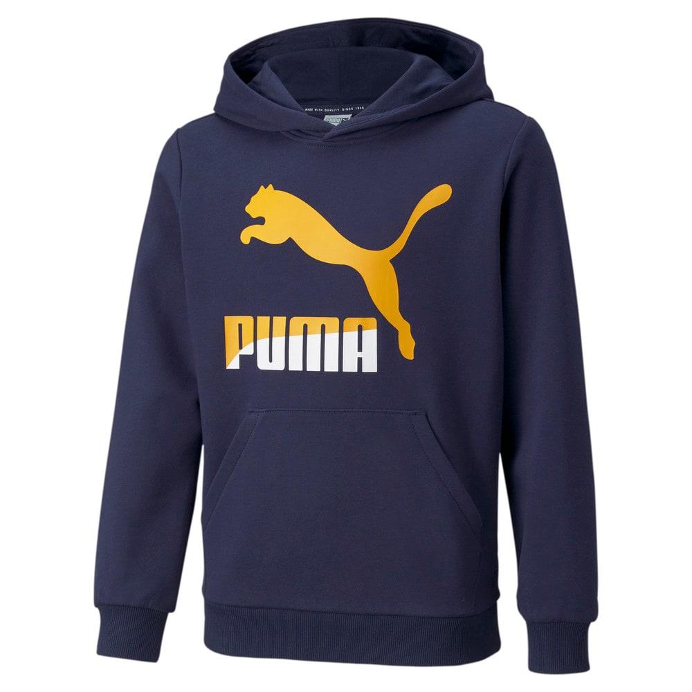 Imagen PUMA Polerón juvenil con logotipo y capucha Classics #1