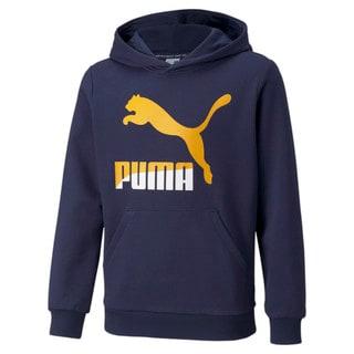 Imagen PUMA Polerón juvenil con logotipo y capucha Classics