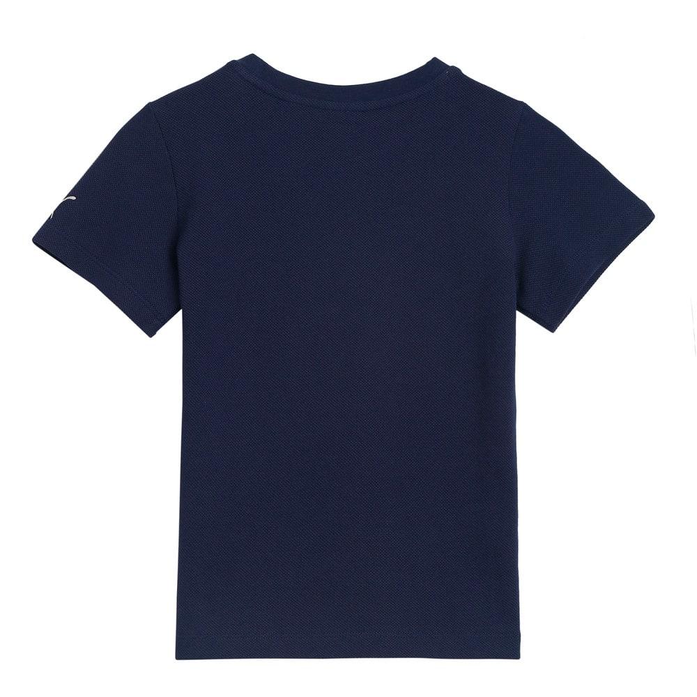Изображение Puma Детская футболка T4C Pique Kids' Tee #2: Peacoat