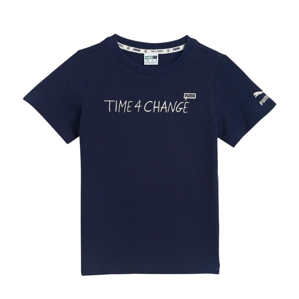 Изображение Puma Детская футболка T4C Pique Kids' Tee #1: Peacoat