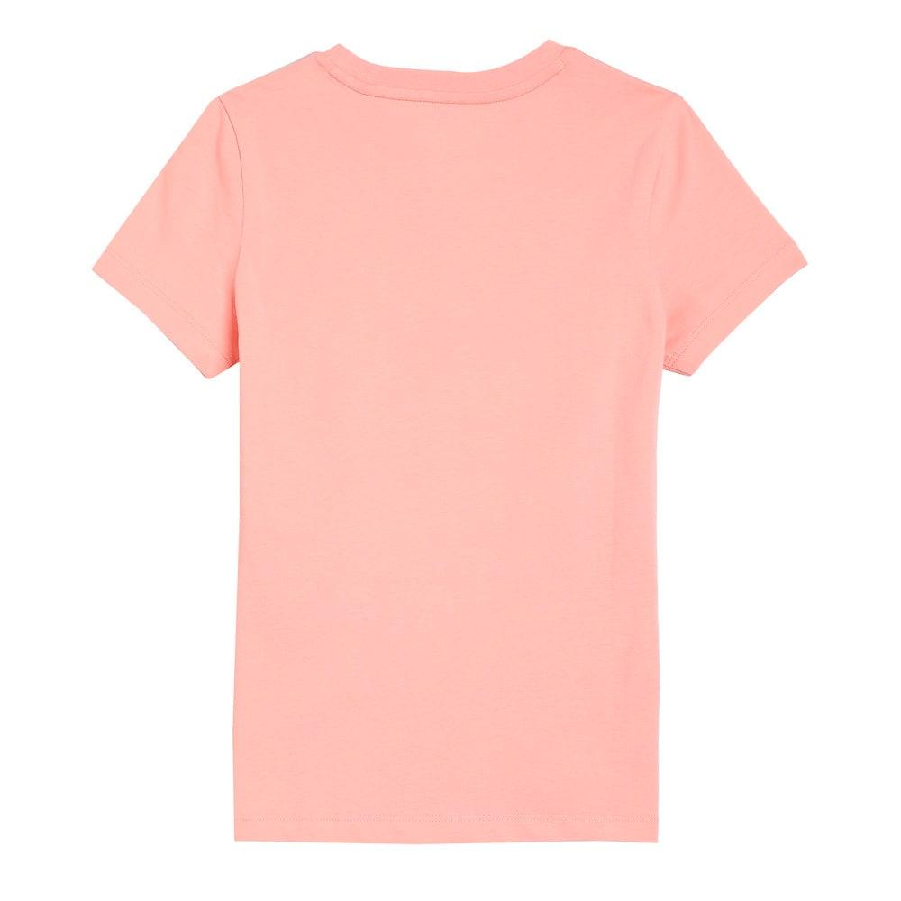 Изображение Puma Детская футболка Classics Logo Youth Tee #2: Apricot Blush