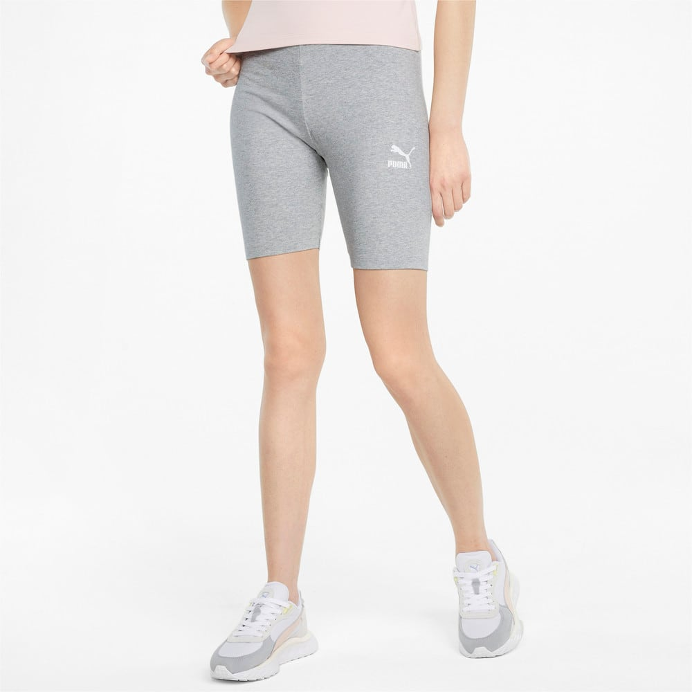 Изображение Puma Леггинсы Classics Women's Short Leggings #1: light gray heather