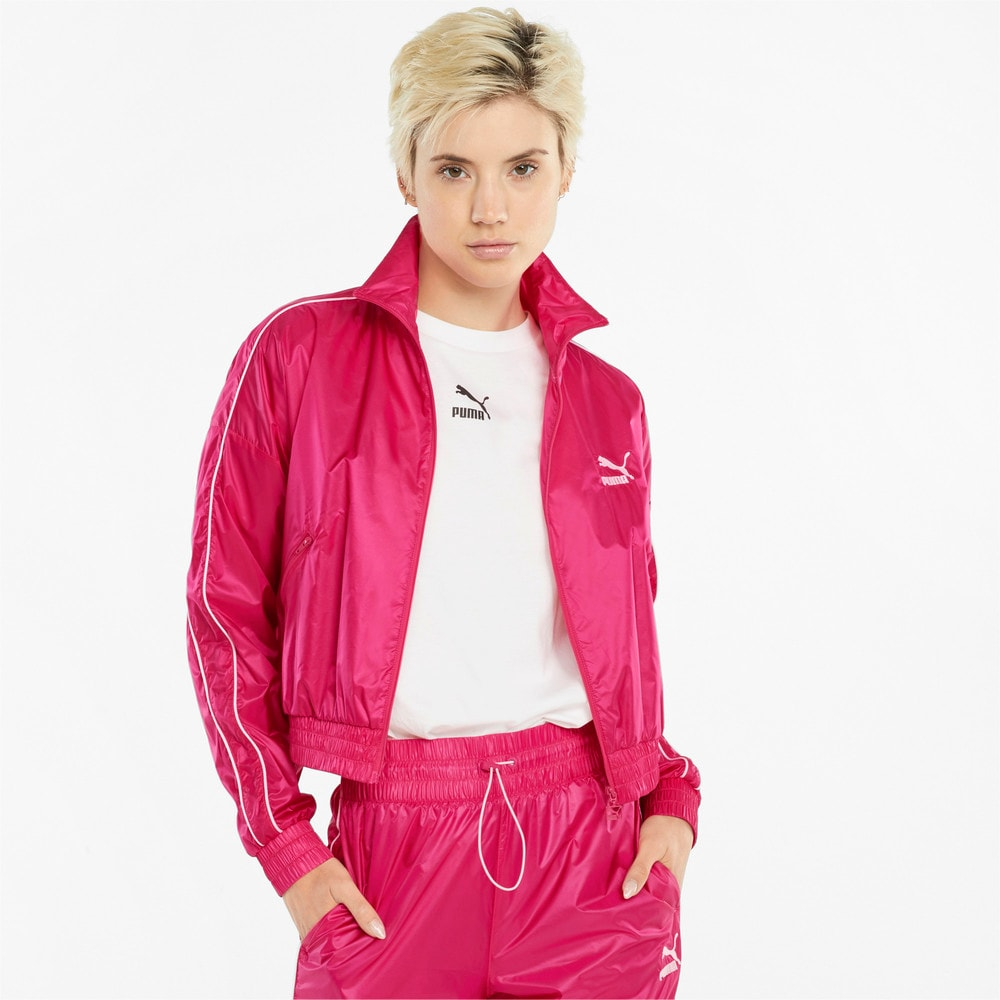 Imagen PUMA Chaqueta deportiva de tejido plano para mujer Iconic T7 #1