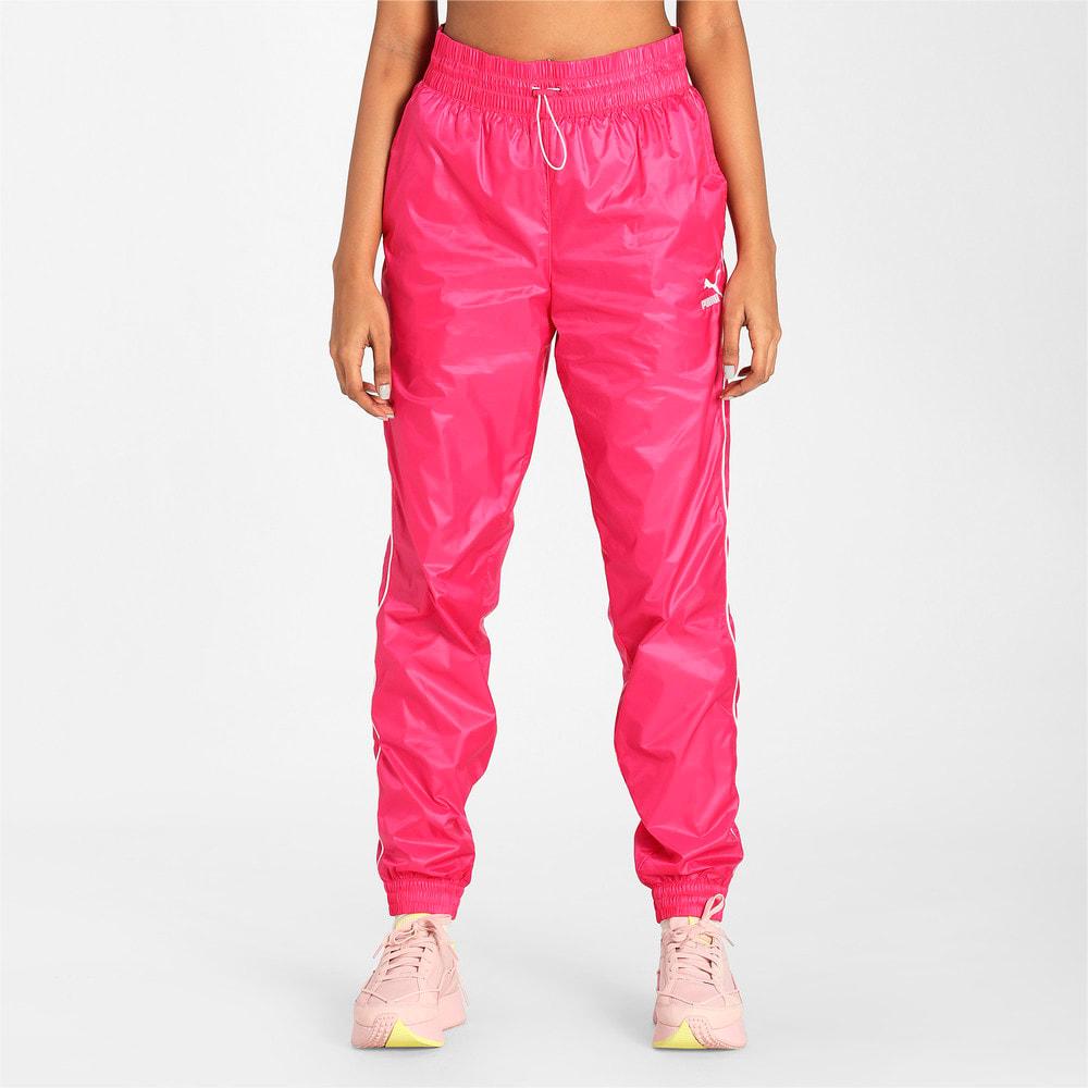 Imagen PUMA Pantalones deportivos de tejido plano para mujer Iconic T7 #1