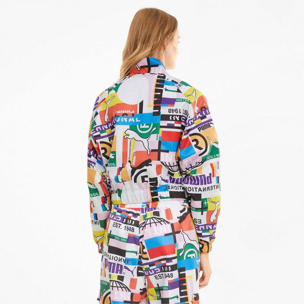 Изображение Puma Олимпийка PUMA International Printed Woven Women's Track Jacket #2