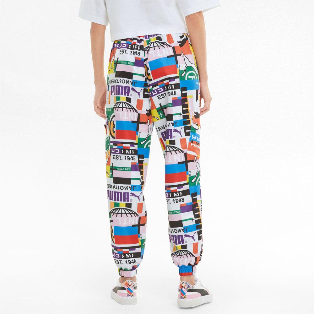 Imagen PUMA Pantalones deportivos para mujer PUMA International Printed Woven #2
