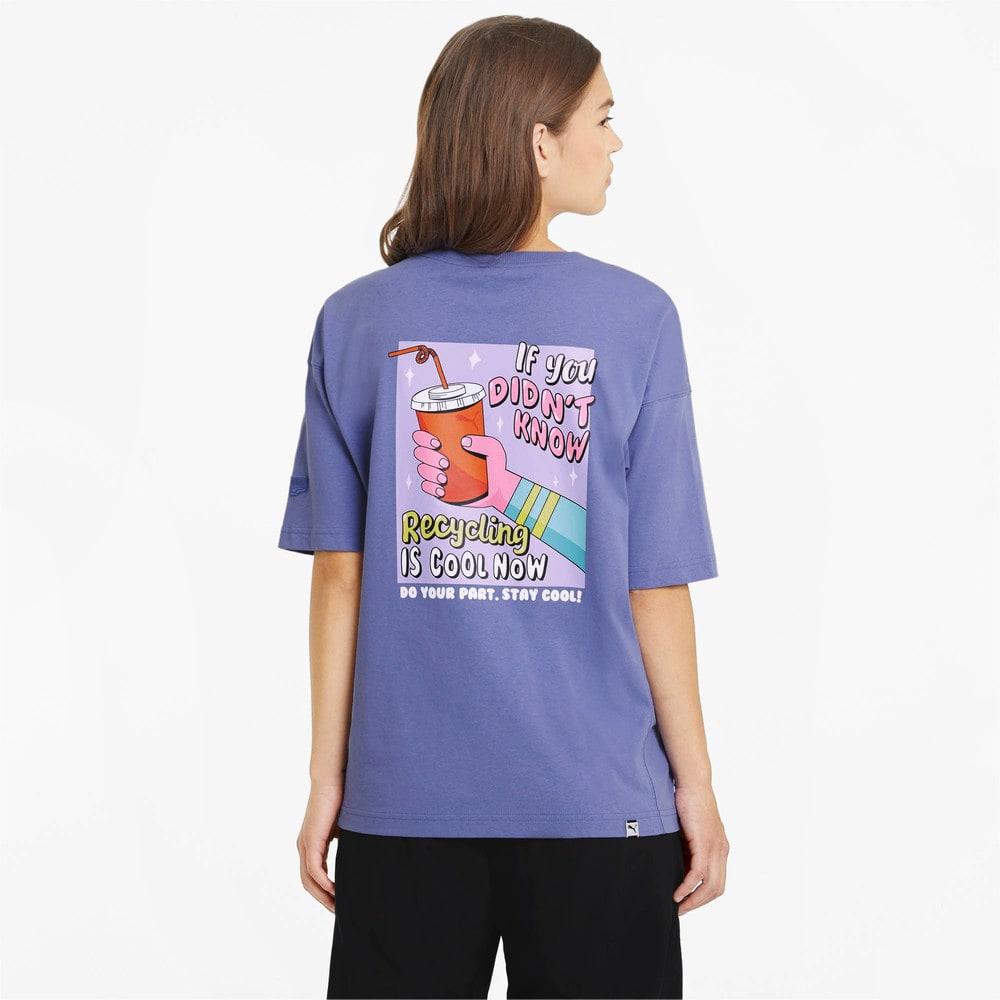 Изображение Puma Футболка Downtown Graphic Women's Tee #2