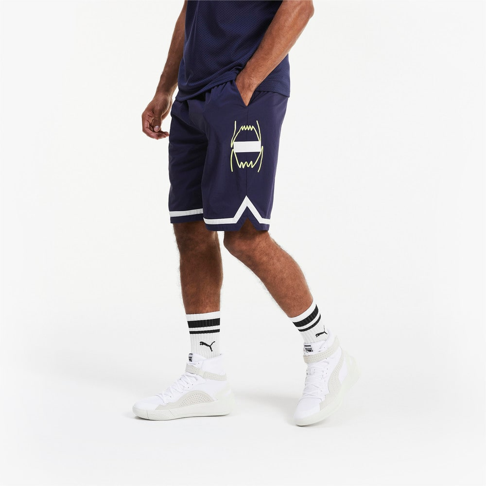 Görüntü Puma FRANCHISE Woven Erkek Basketbol Şort #1