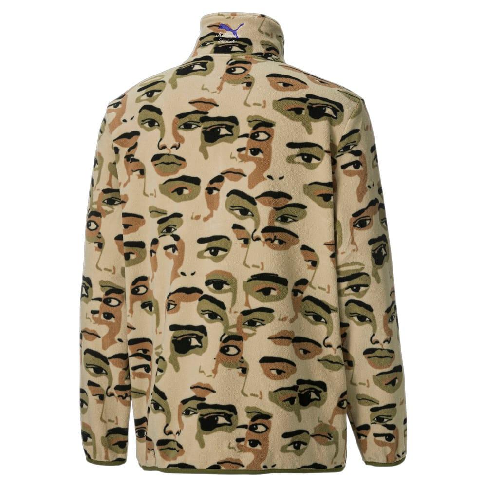 Зображення Puma Толстовка PUMA x KidSuper Printed Fleece Half-Zip Men's Top #2: Pale Khaki-AOP