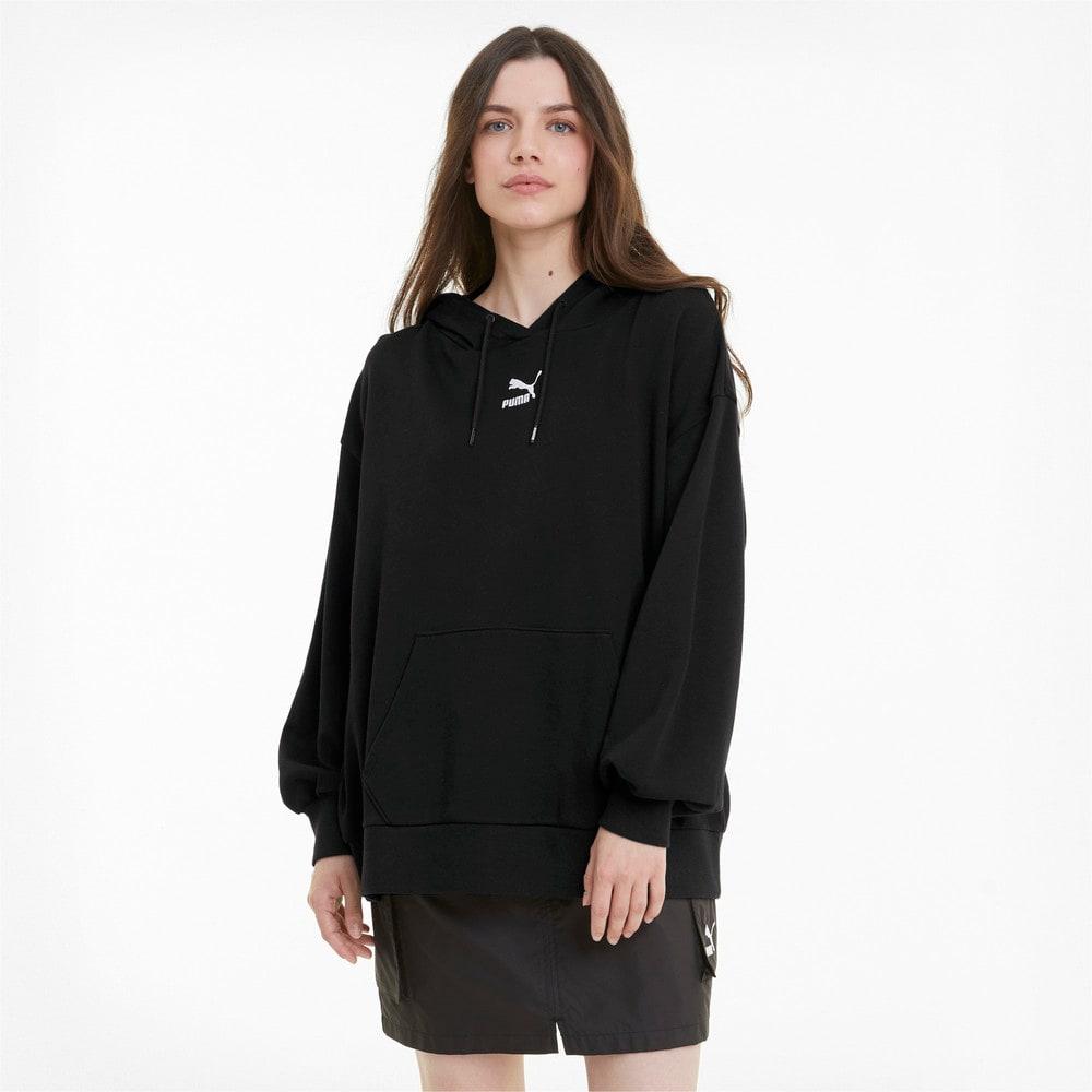Görüntü Puma CLASSICS Geniş Kesim Kadın Kapüşonlu Sweatshirt #1