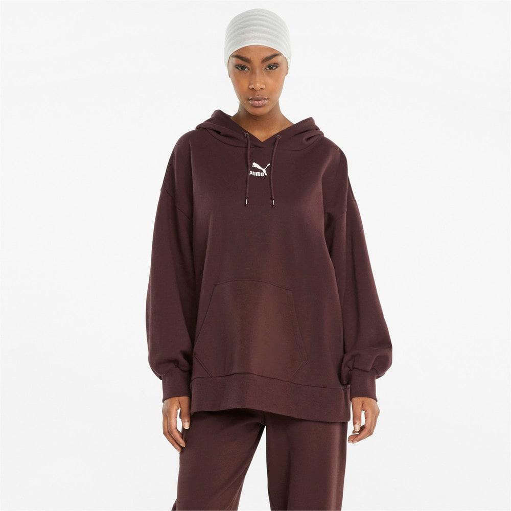 Зображення Puma Толстовка Classics Oversized Women's Hoodie #1: Fudge