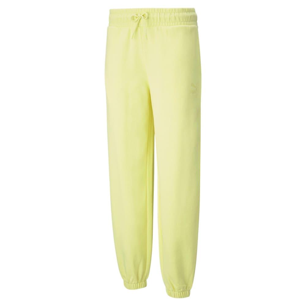 Изображение Puma Штаны Classics Relaxed Women's Sweatpants #1: Yellow Pear