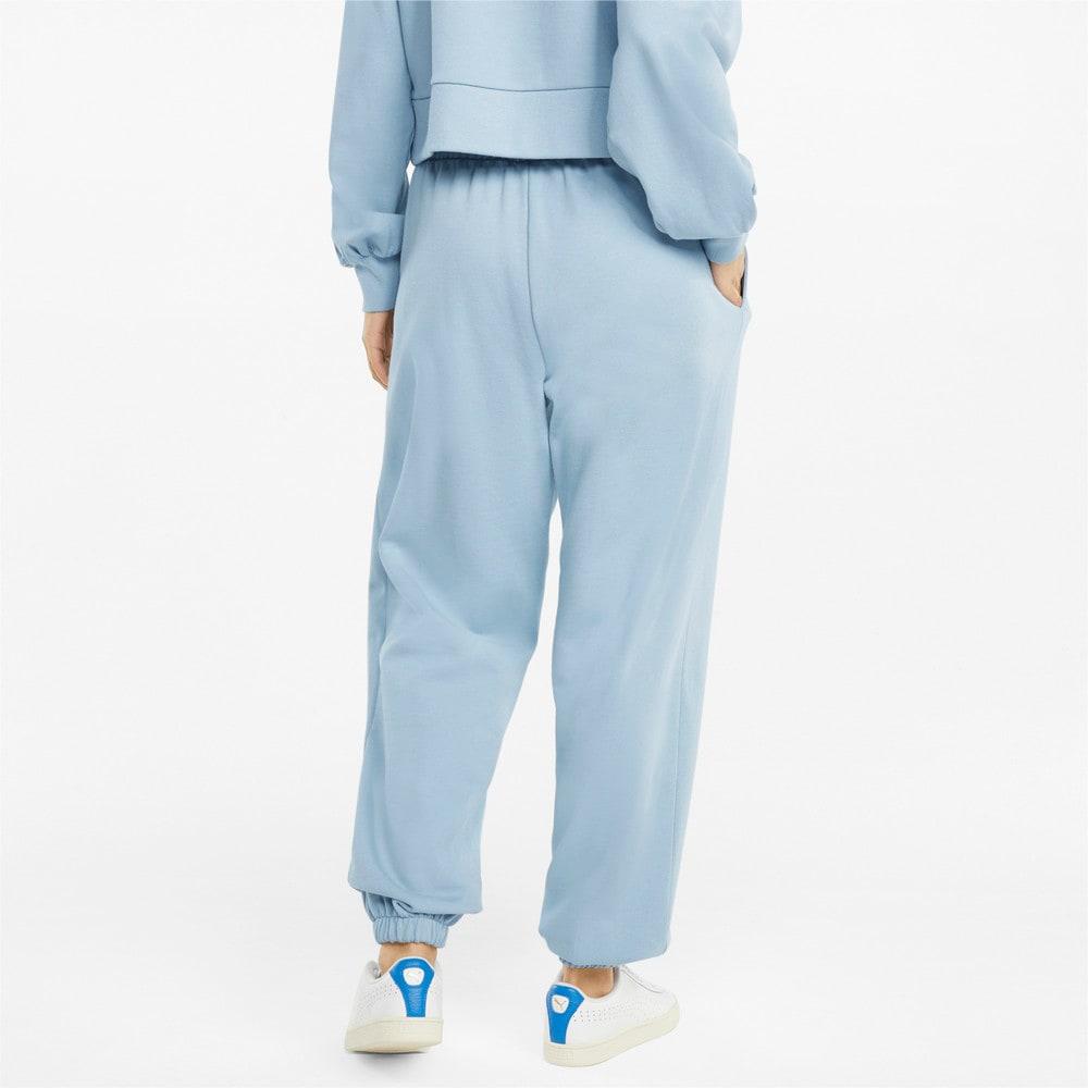 Изображение Puma Штаны Classics Relaxed Women's Sweatpants #2: Blue Fog