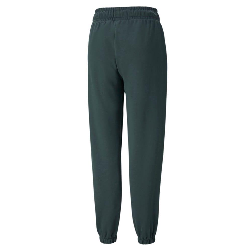 Изображение Puma Штаны Classics Relaxed Women's Sweatpants #2: Green Gables