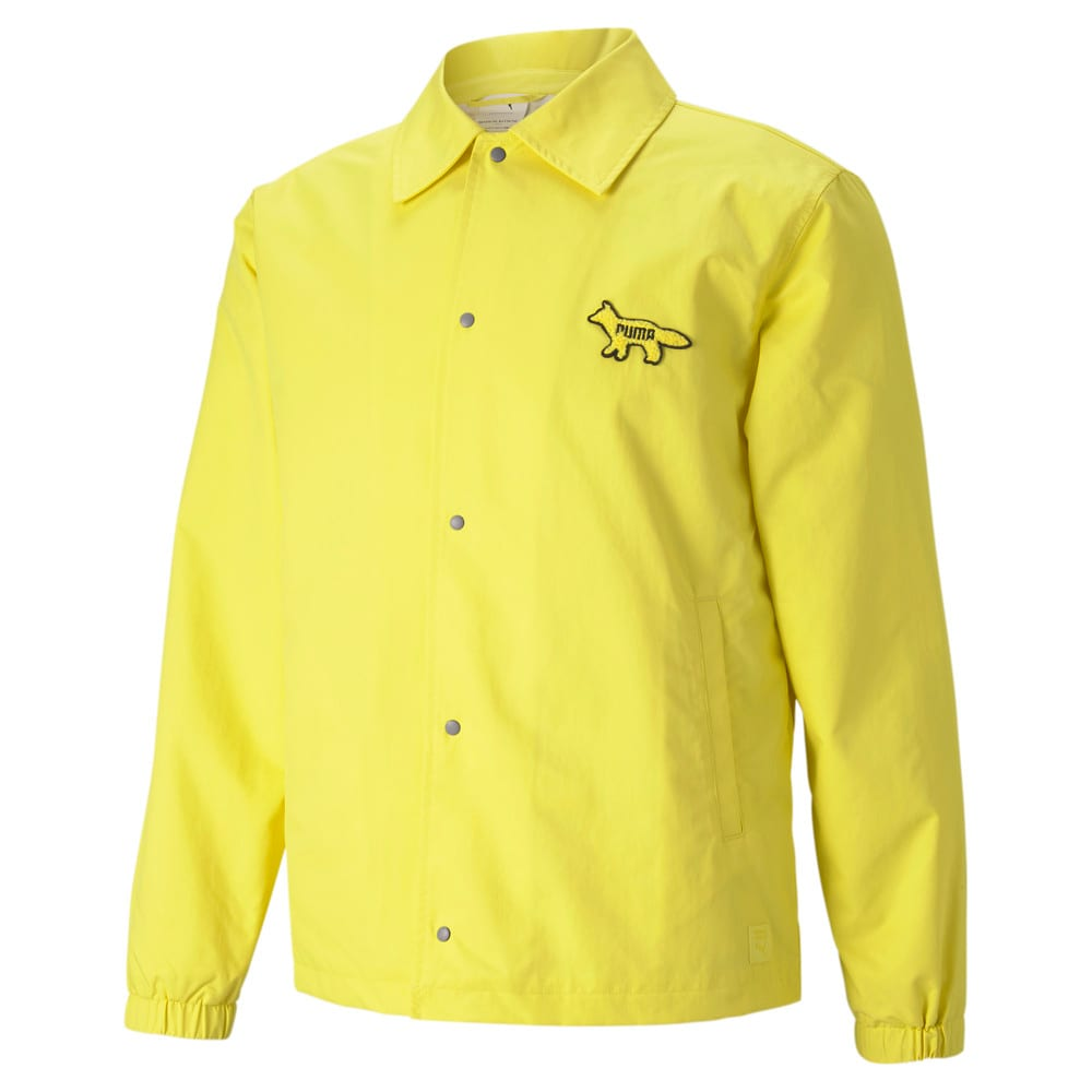 Изображение Puma Куртка PUMA x MAISON KITSUNÉ Coach Jacket #1: Lemon Chrome