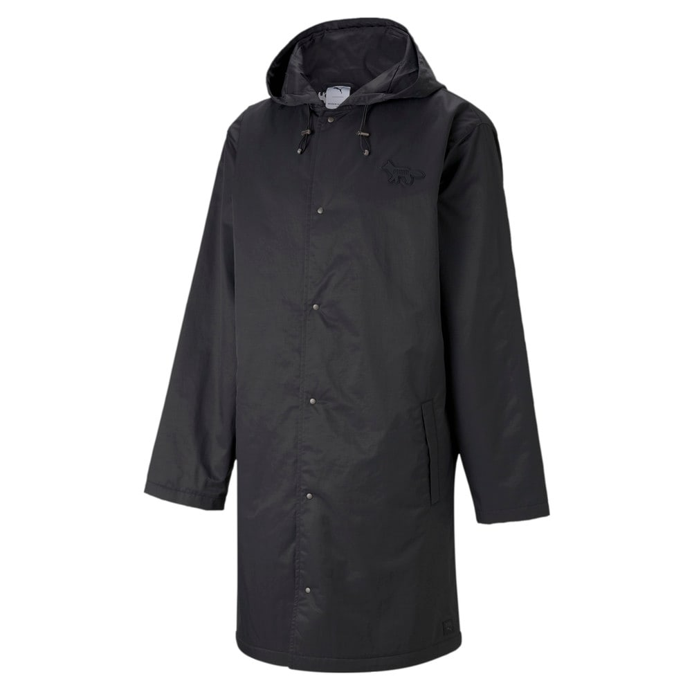 Изображение Puma Куртка PUMA x MAISON KITSUNÉ Hooded Long Jacket #1: Puma Black