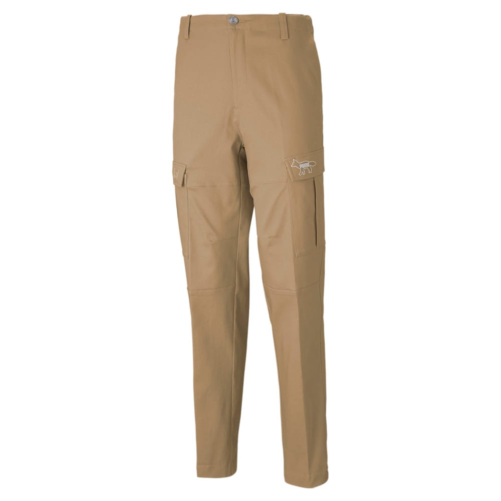 Изображение Puma Штаны PUMA x MAISON KITSUNÉ Men's Cargo Pants #1: Travertine