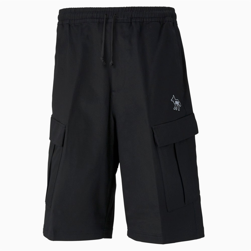 Зображення Puma Шорти PUMA x MAISON KITSUNÉ Men's Cargo Shorts #1: puma black-AOP