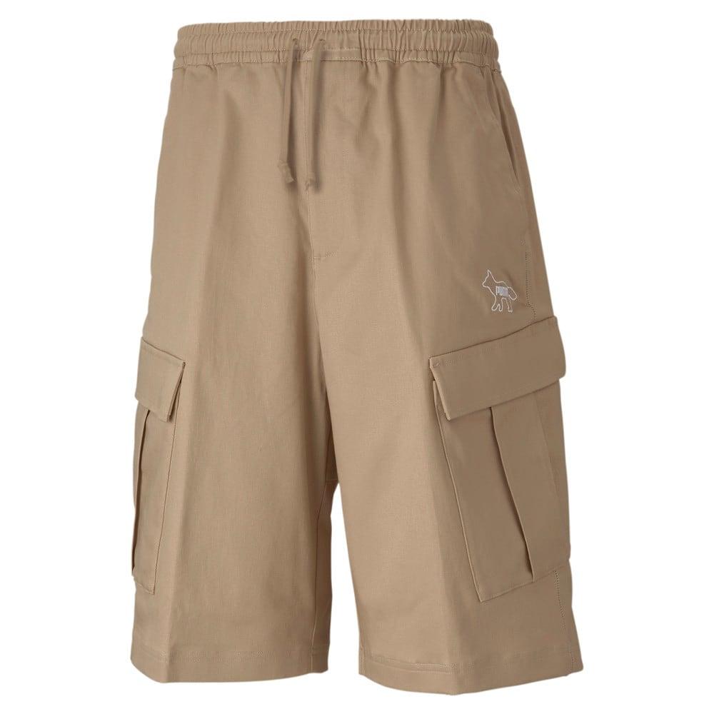 Изображение Puma Шорты PUMA x MAISON KITSUNÉ Men's Cargo Shorts #1: Travertine