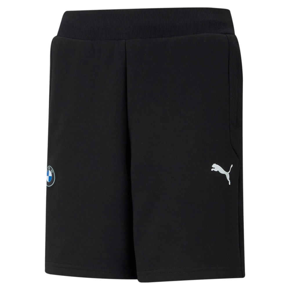 Изображение Puma Детские шорты BMW M Motorsport Printed Youth Sweat Shorts #1