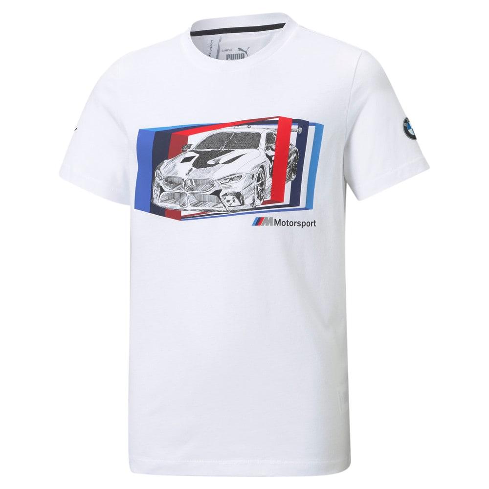 Изображение Puma Детская футболка BMW M Motorsport Car Graphic Youth Tee #1