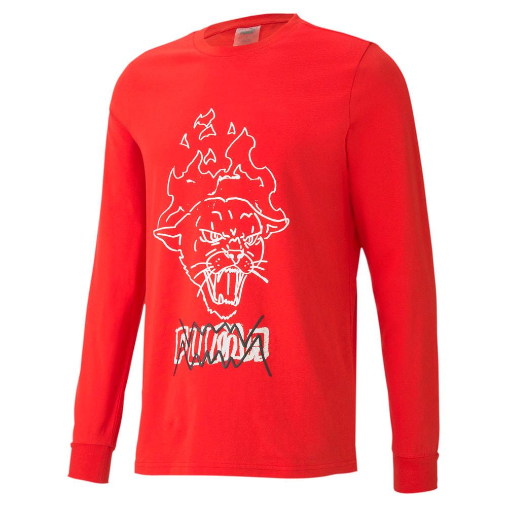 Görüntü Puma FRANCHISE Street Uzun Kollu Erkek Basketbol T-shirt #1