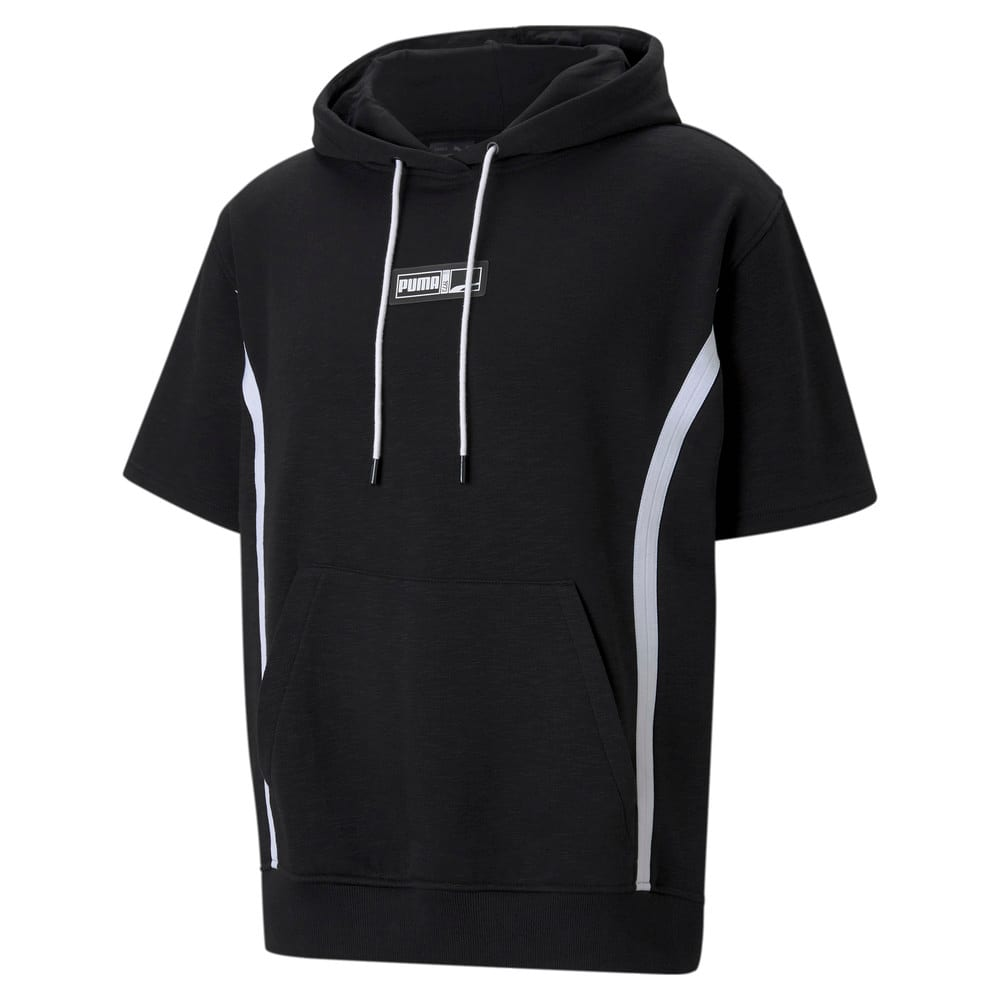 Изображение Puma Толстовка с коротким рукавом Franchise Short Sleeve Men's Basketball Hoodie #1