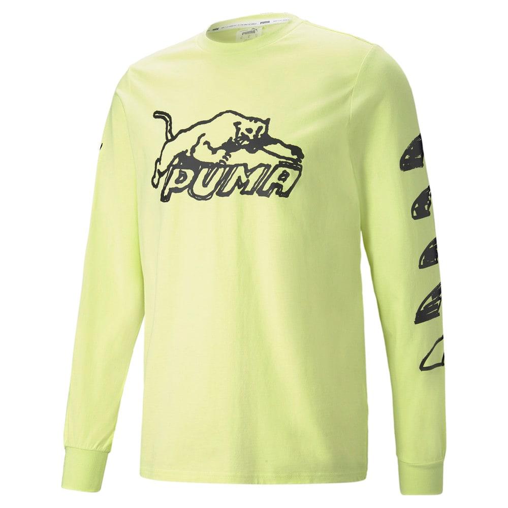 Зображення Puma Футболка з довгим рукавом Franchise Long Sleeve Men's Basketball Tee #1: SOFT FLUO YELLOW