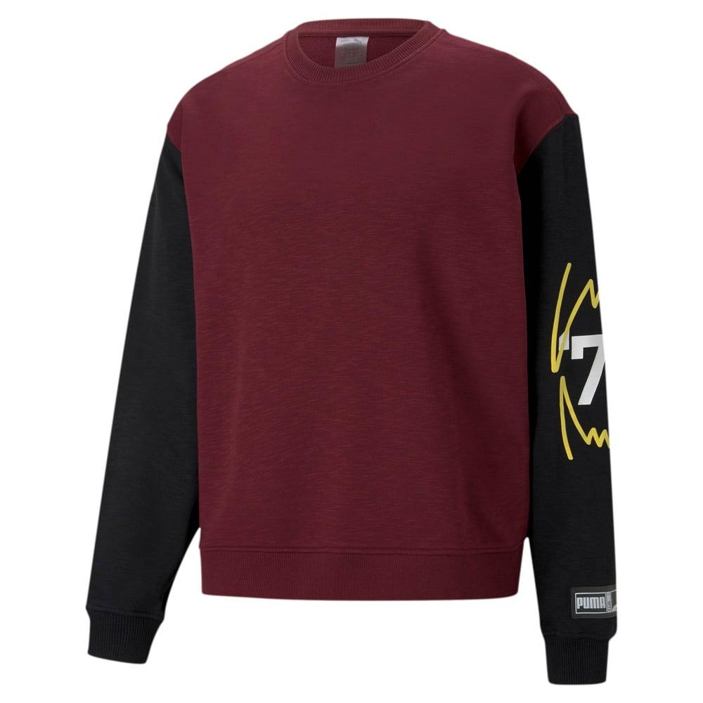Изображение Puma Толстовка Colour Blocked Crew Neck Men's Basketball Sweatshirt #1