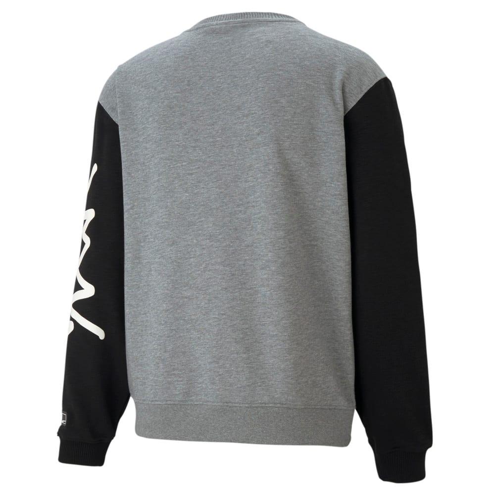 Зображення Puma Толстовка Colour Blocked Crew Neck Men's Basketball Sweatshirt #2: Medium Gray Heather