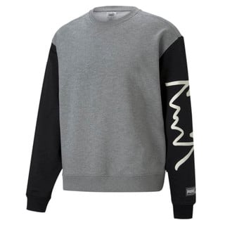 Зображення Puma Толстовка Colour Blocked Crew Neck Men's Basketball Sweatshirt