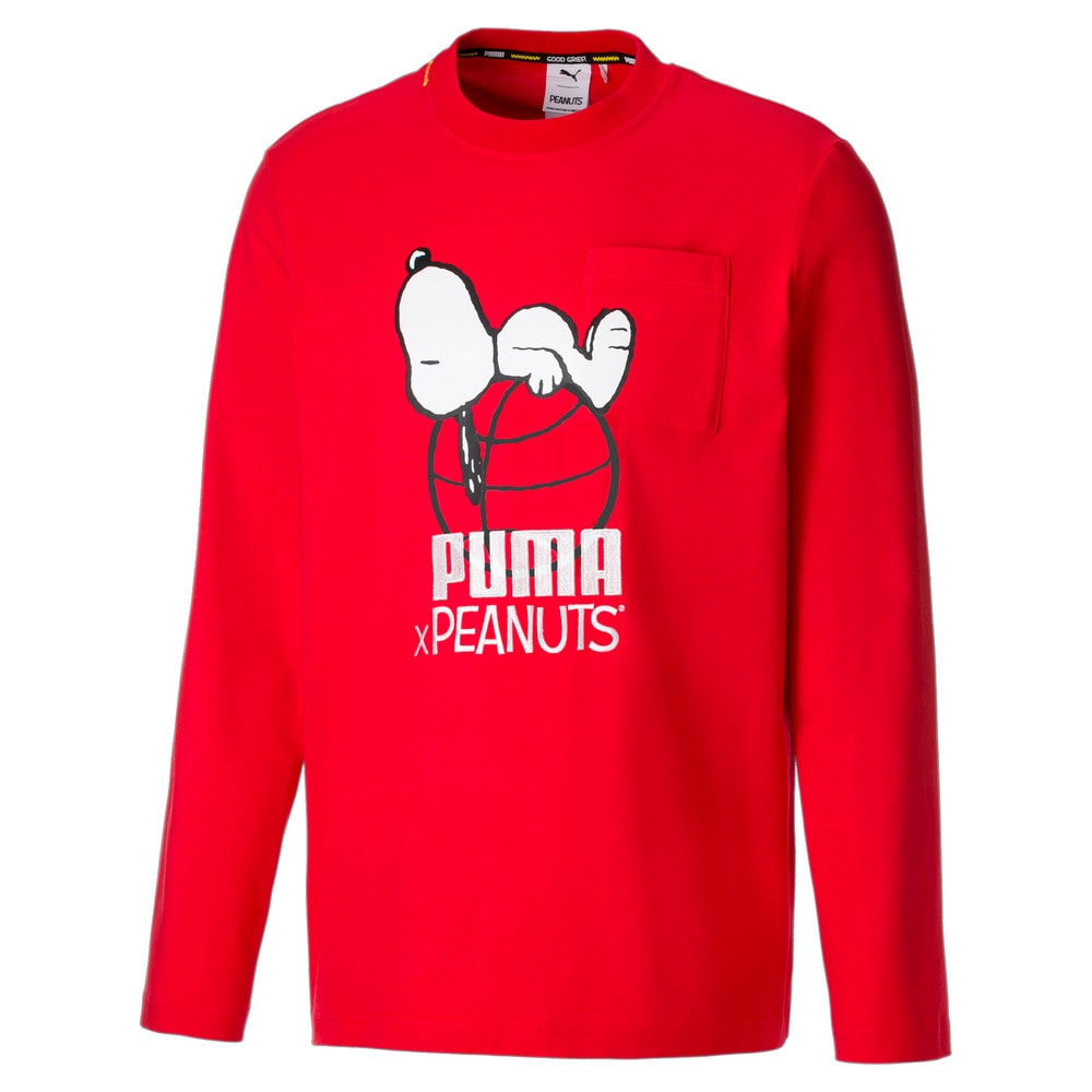 Изображение Puma Футболка с длинным рукавом PUMA x PEANUTS Long Sleeve Men's Tee #1