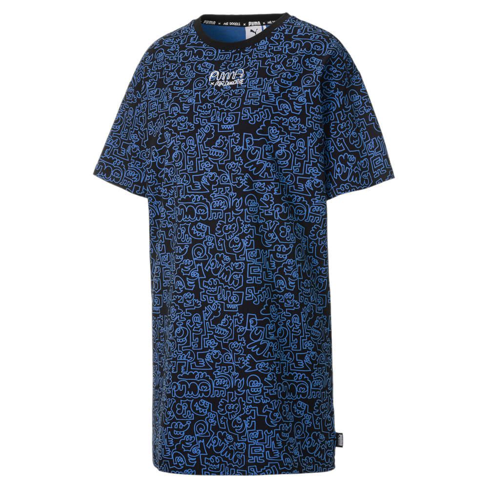 Изображение Puma Платье PUMA x MR DOODLE Women's Printed Tee Dress #1