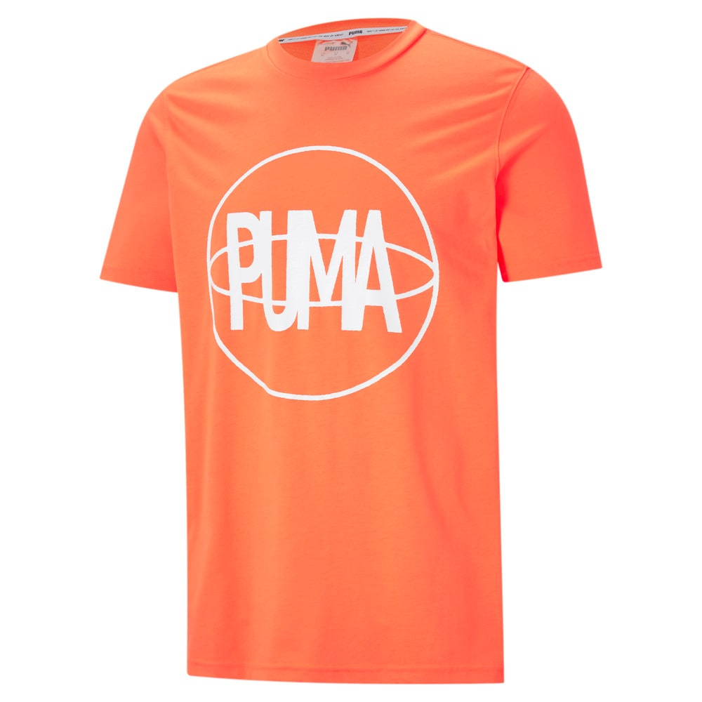 Изображение Puma Футболка Back P Short Sleeve Men's Basketball Tee #1