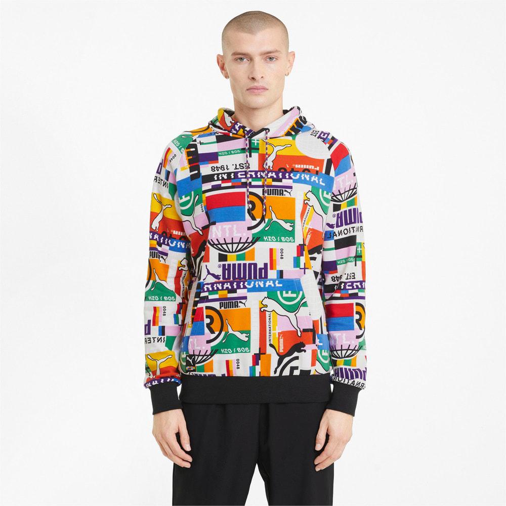 Görüntü Puma PUMA INTERNATIONAL PRINTED Erkek Kapüşonlu Sweatshirt #1