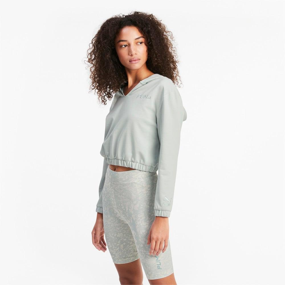 Görüntü Puma PUMA Kısa Kesim Kadın Kapüşonlu Sweatshirt #1