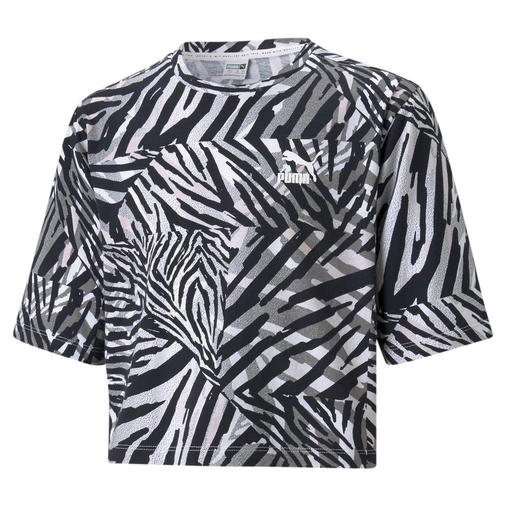 Изображение Puma Детская футболка Classics Safari Printed Youth Tee #1