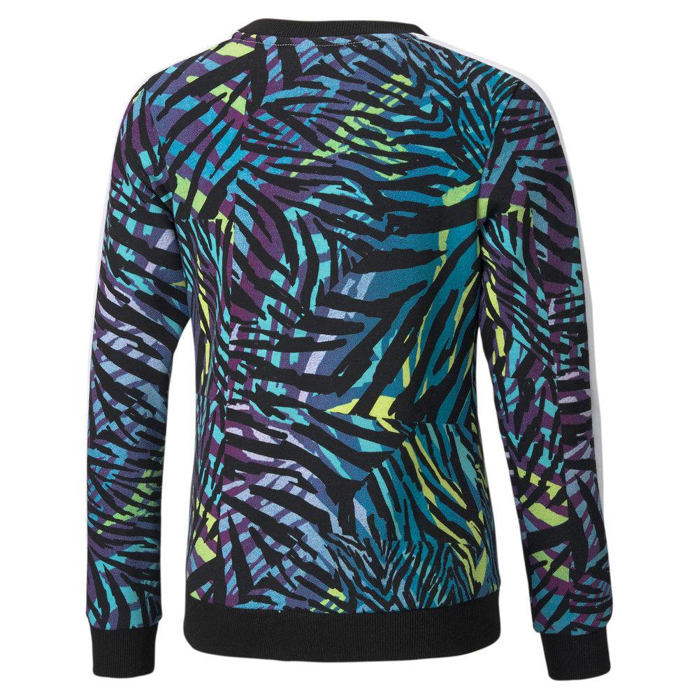 Изображение Puma Детская толстовка Classics T7 Crew Neck Printed Youth Sweatshirt #2