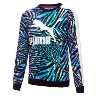 Изображение Puma Детская толстовка Classics T7 Crew Neck Printed Youth Sweatshirt