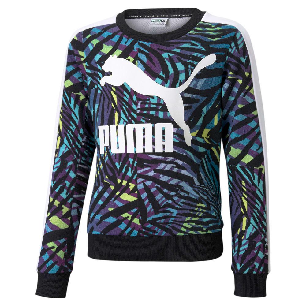 Image Puma Classics T7 Crew Neck Printed Youth Sweatshirt #1