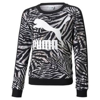 Изображение Puma Детская толстовка Classics T7 Crew Neck Printed Youth Sweatshirt