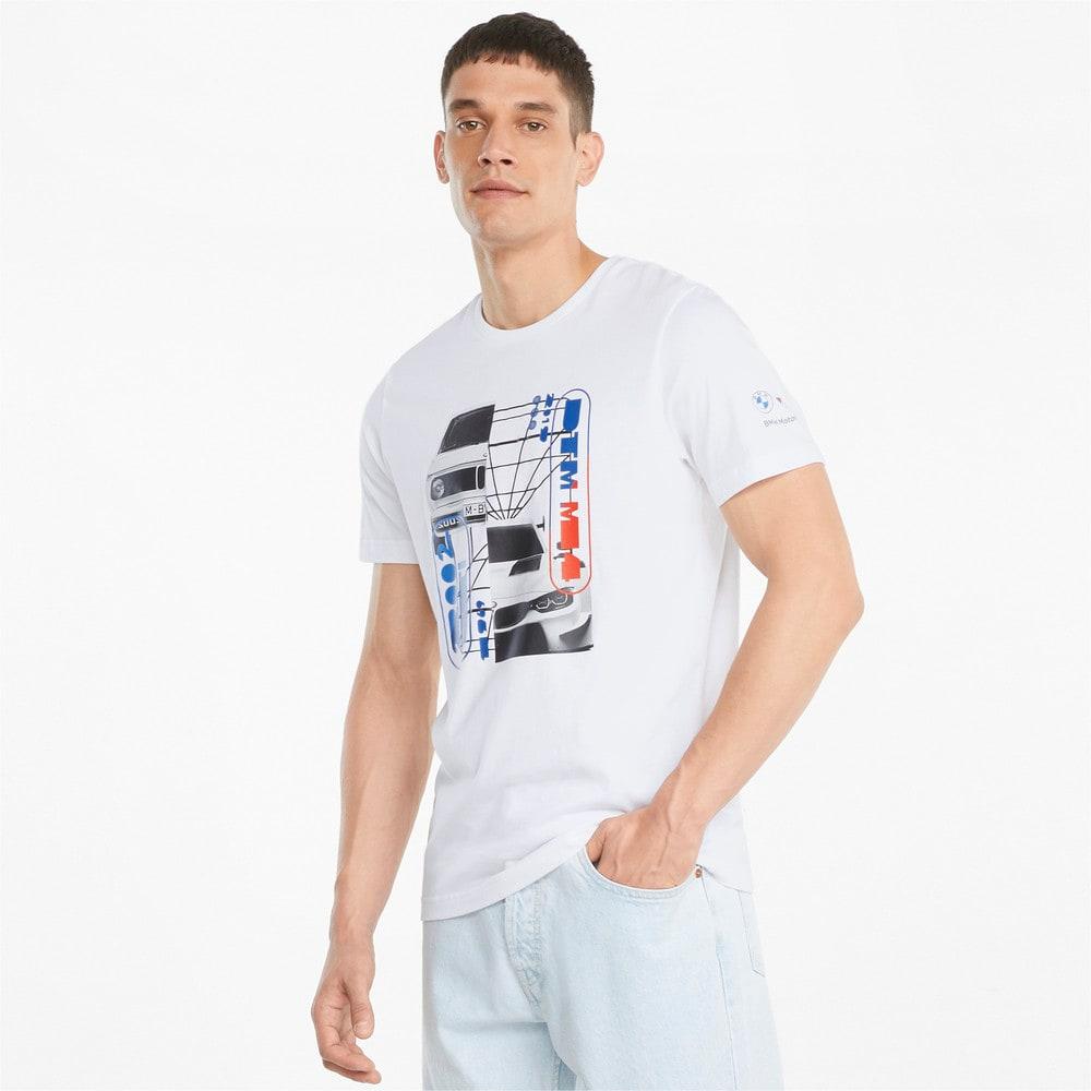Görüntü Puma BMW M Motorsport Araba Grafikli Erkek T-shirt #1
