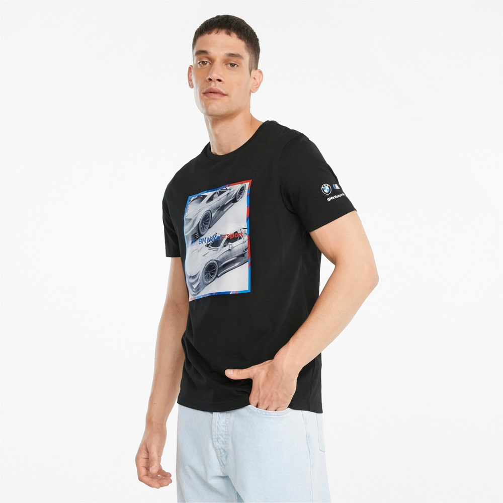 Изображение Puma Футболка BMW M Motorsport Logo Graphic Men's Tee #1