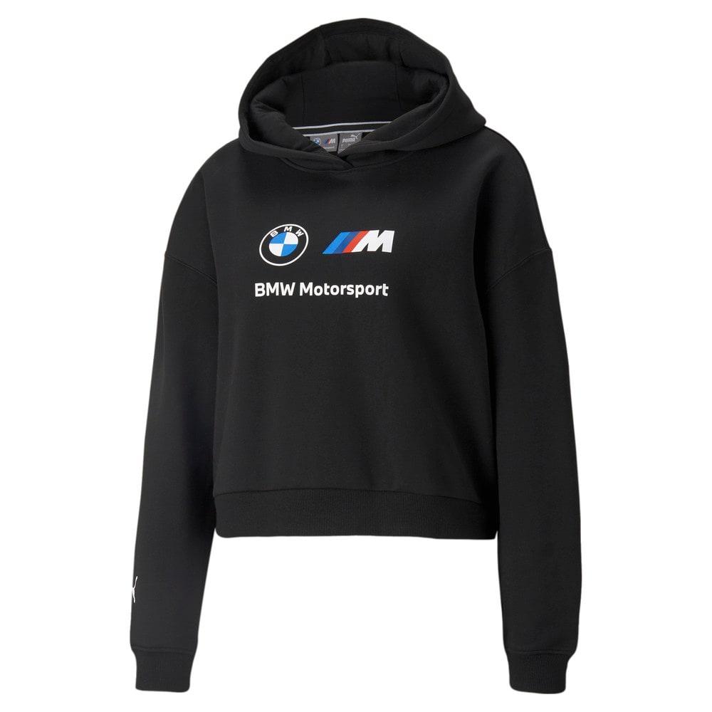 Изображение Puma Толстовка BMW M Motorsport Essentials Logo Women's Hoodie #1: Puma Black