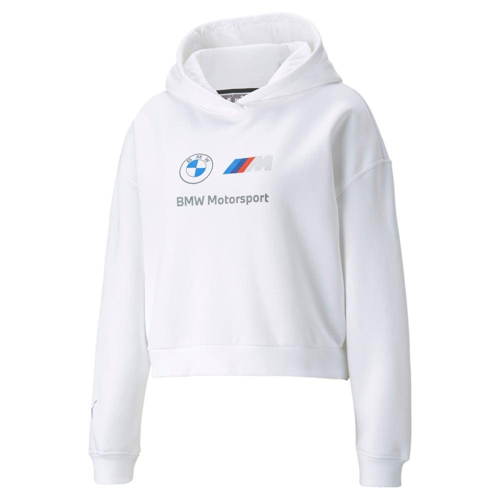 Görüntü Puma BMW M Motorsport ESSENTIALS Logo Kadın Kapüşonlu Sweatshirt #1